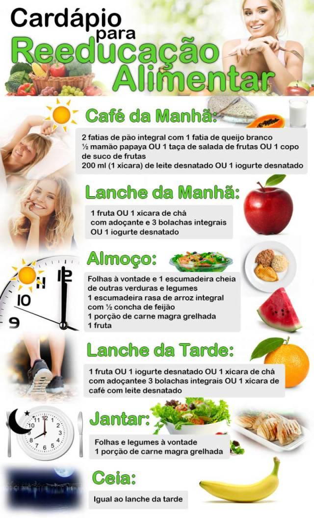 Cardápio para Reeducaçao Alimentar